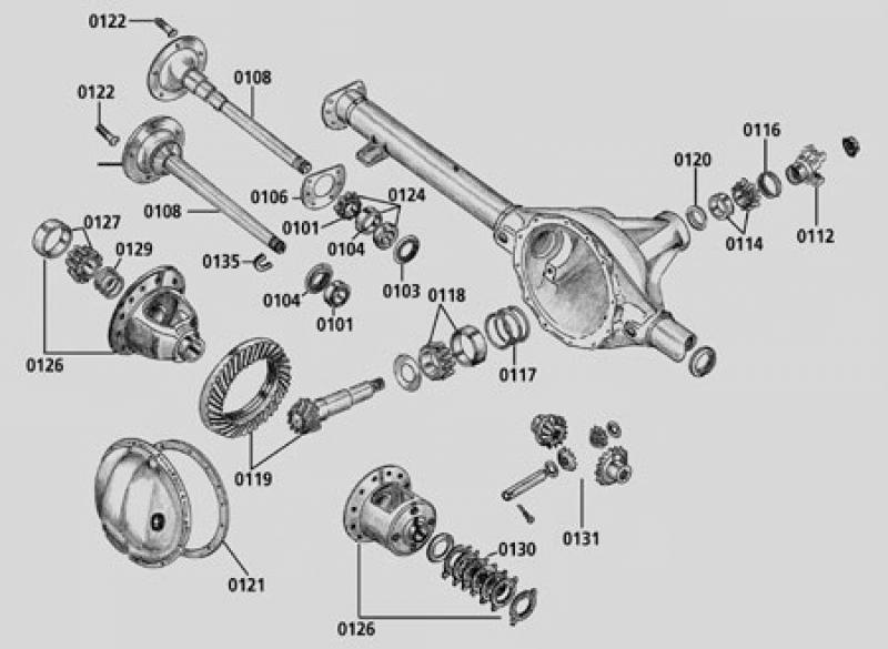 Differential Standard Dana 44 ZJ 96 98