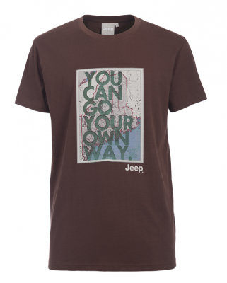 "MAN T-SHIRT ""You can go your own way"" J6S Gr. L Hot Chocolate"