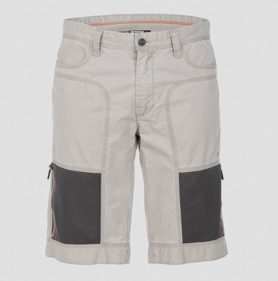 MAN SHORTS W/ ZIPPED MESH POCKETS Gr.50 Grey Dawn/Dark Grey