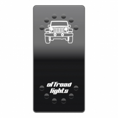 Wippenschalter OFF-ROAD Lights horntools Offroad Switch Wipp Schalter mit LED Beleuchtung horntools Rocker Switch Wipp Schalter