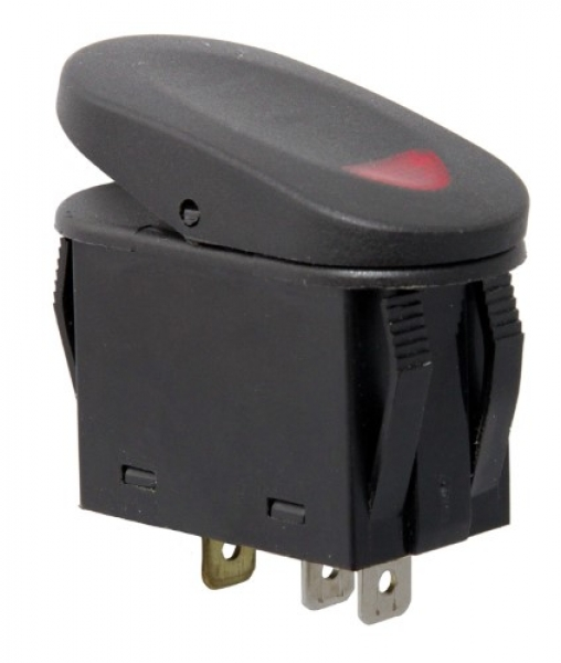 Rugged Ridge Rocker Switch Kippschalter rot beleuchtet